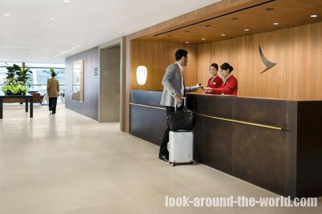 Cathay Pacific Business Class Lounge at The Pier