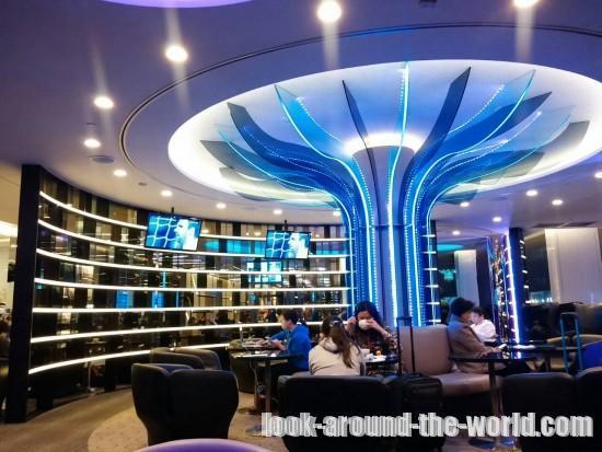 台湾桃園国際空港のエバー航空ラウンジ潜入