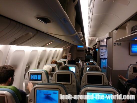 ターキッシュエアラインTK53の機内食と機内の様子