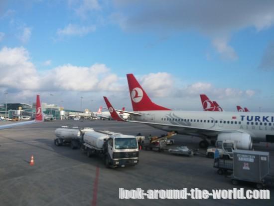 ターキッシュエアラインズB737-800エコノミーTK1756リスボン~イスタンブール