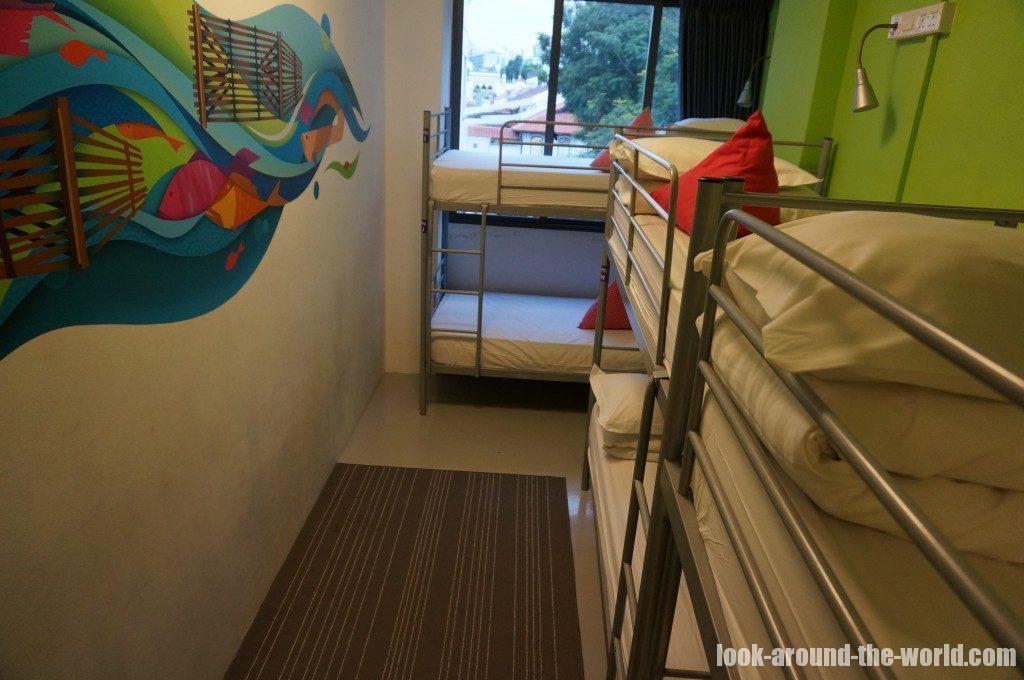 ファイブ・ストーンズ・ホステルの寝室