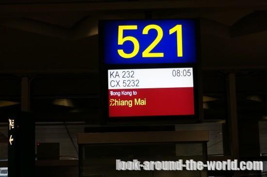 香港ドラゴン航空、香港~チェンマイ搭乗