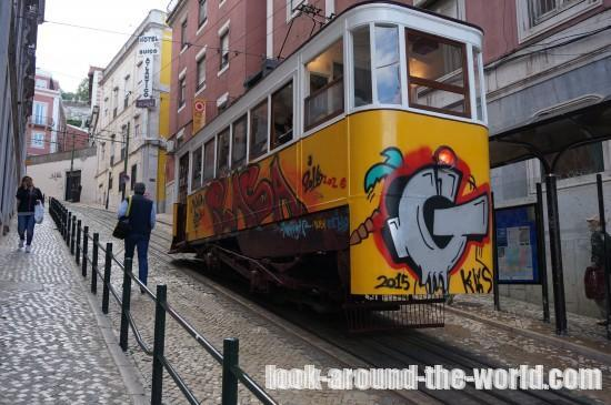 リスボンのケーブルカー・グロリア線