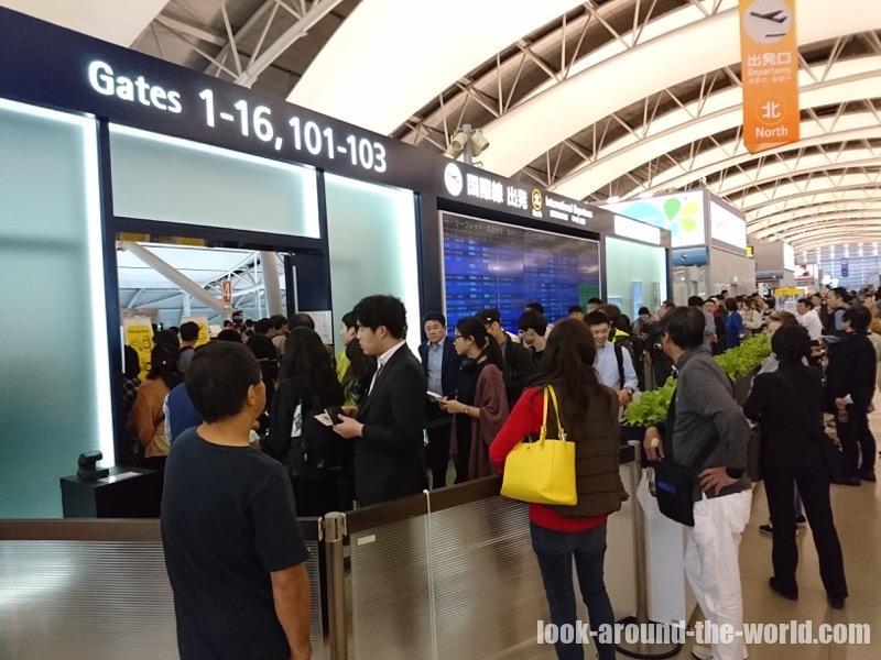 ANAでの関西国際空港での国内線からの乗り継ぎ