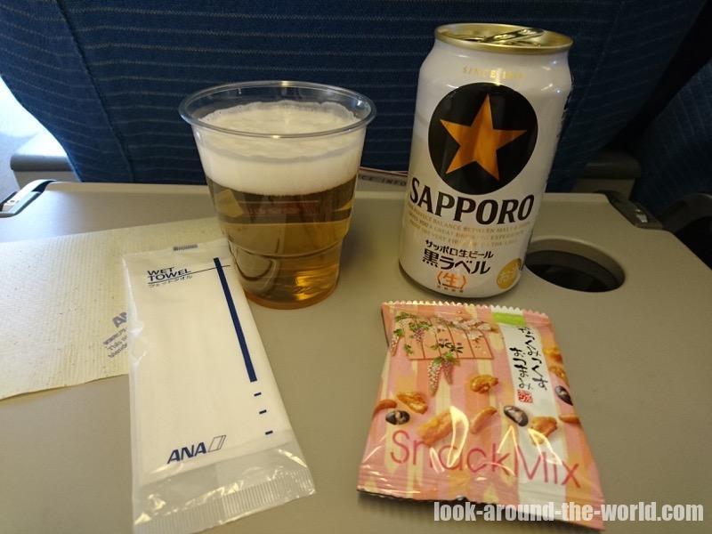 ANA 767-300ER エコノミークラスの機内食 NH873