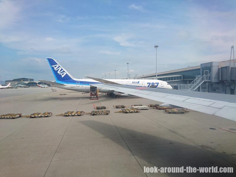 NH873 香港国際空港に到着