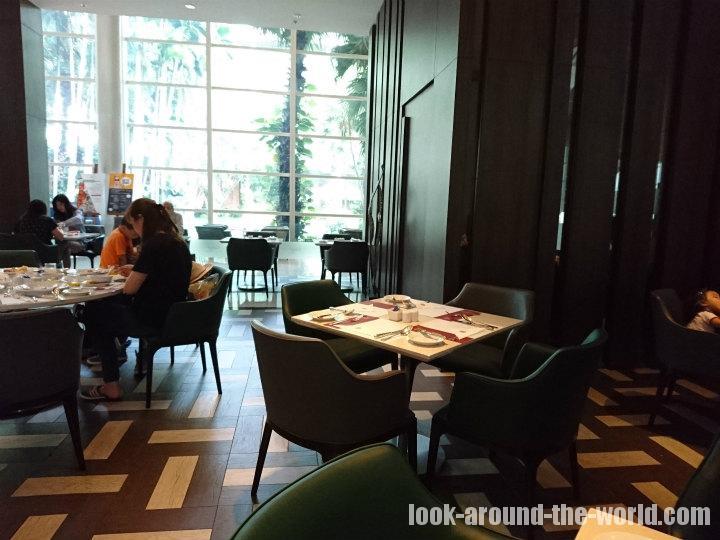 プルマンバンコクキングパワーのCuisine Unplugged Restaurantでの朝食