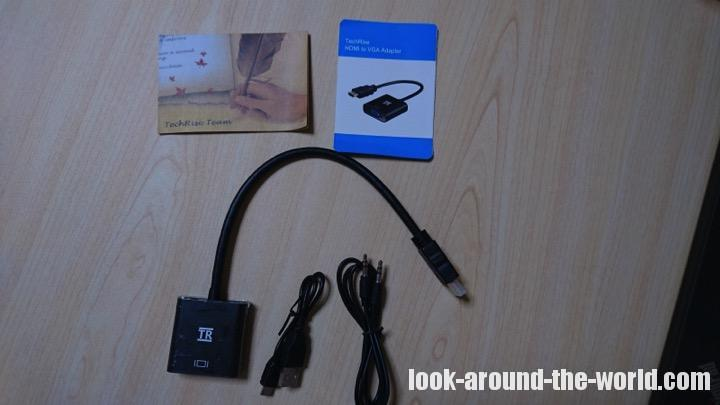 TechRise金メッキ高速1080P HDMI オス to VGAメスビデオ変換アダプタケーブル