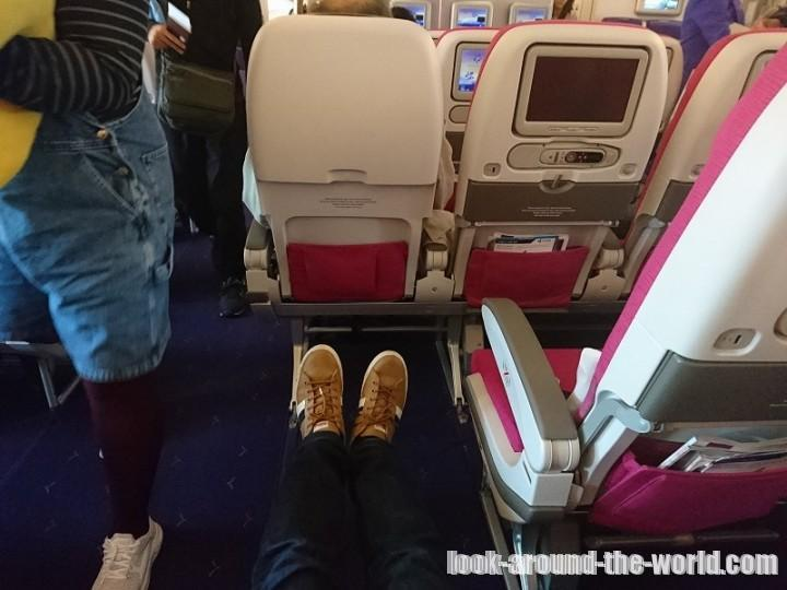 タイ国際航空A380エコノミークラス