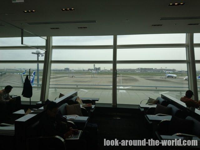 羽田空港国際線ターミナルのANAラウンジ