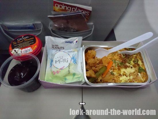 マレーシア航空 MH796 クアラルンプール~バンコク 機内食