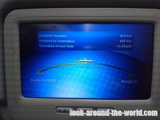 マレーシア航空B737-800エコノミーMH796クアラルンプール~バンコク搭乗