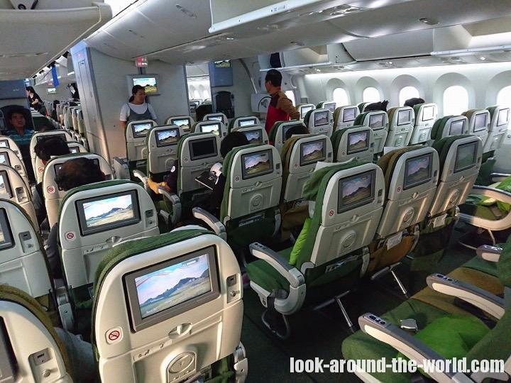 エチオピア航空B787ー8エコノミーET608香港〜仁川搭乗