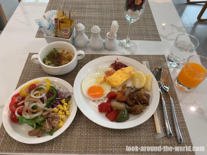 アットマインド サービスドレジデンス パタヤの朝食で食べたもの
