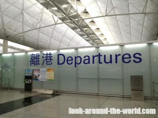 香港国際空港のカンタスラウンジ