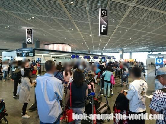 """成田空港で中国国際航空CA926北京行きチェックイン"""""""