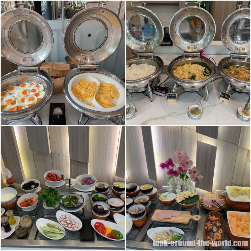 アットマインド サービスドレジデンス パタヤの朝食の一部