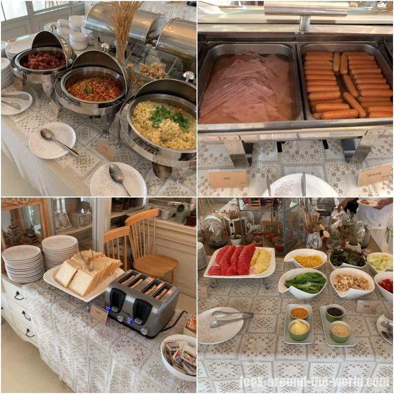 ヴィラ・ラ・フローラ Villa la Flora の朝食
