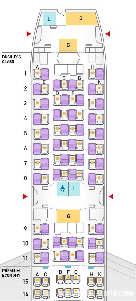 B787-9の246席仕様機